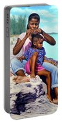 Island Girls II Portable Battery Charger by Nicole Minnis