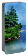 Island Home With Bridge - My Happy Place Portable Battery Charger