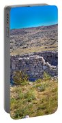 Island Of Krk Old Stone Ruins Portable Battery Charger