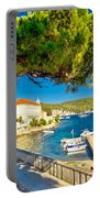 Island Of Vis Seafront Walkway View Portable Battery Charger