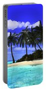 Island With Palm Trees Portable Battery Charger