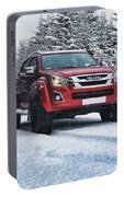 Isuzu In The Snow Portable Battery Charger
