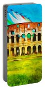 Italian Aerobatics Team Over The Colosseum Portable Battery Charger