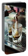Italian Espresso Expresso Coffee Making Preparation With Machine Portable Battery Charger