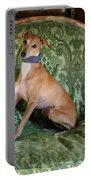 Italian Greyhound Portrait Portable Battery Charger