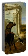Italian Landscape With Horsemen By A Spring Portable Battery Charger