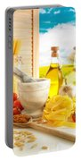 Italian Pasta In Country Kitchen Portable Battery Charger