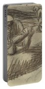 Italian Peasants With Wine Flasks Portable Battery Charger