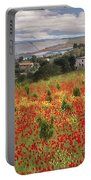 Italian Poppy Field Portable Battery Charger by Sharon Foster