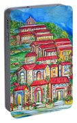Italian Village On A Hill Portable Battery Charger