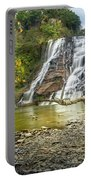 Ithaca Falls In Early Autumn Portable Battery Charger