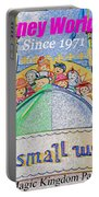 It's A Small World Poster Art Portable Battery Charger