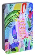 It's Raining Flowers Portable Battery Charger