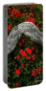 Ivy Geraniums And Log Portable Battery Charger