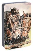 Jack And Joe Hard Workin Horses Portable Battery Charger