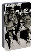 Jack Hendrickson With Pet Burro  Number 1 Helldorado Days Parade Tombstone Arizona 1980 Portable Battery Charger