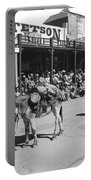 Jack Hendrickson With Pet Burro Number 2 Helldorado Days Parade Tombstone Arizona 1980 Portable Battery Charger