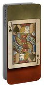 Jack Of Spades In Wood Portable Battery Charger