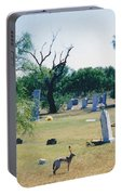 Jack Rabbit In Cementery Portable Battery Charger