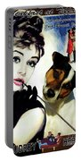 Jack Russell Terrier Art Canvas Print - Breakfast At Tiffany Movie Poster Portable Battery Charger