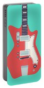 60's Electric Guitar - Teal Portable Battery Charger