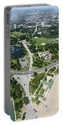 Jackson Park In Chicago Aerial Photo Portable Battery Charger