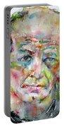Jackson Pollock - Watercolor Portrait.3 Portable Battery Charger