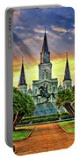 Jackson Square Evening Rays Portable Battery Charger