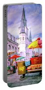 Jackson Square Scene - Painted - Nola Portable Battery Charger