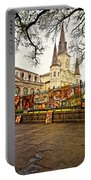 Jackson Square Winter - Artistic Portable Battery Charger