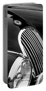 Jaguar Grille Black And White Portable Battery Charger