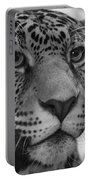 Jaguar In Black And White Portable Battery Charger