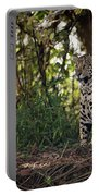 Jaguar Sitting In Trees In Dappled Sunlight Portable Battery Charger