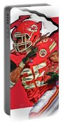 Jamaal Charles Kansas City Chiefs Oil Art Portable Battery Charger