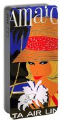 Jamaica, Woman With Orange Hat Portable Battery Charger