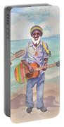 Jamaican Musician Watercolor Portable Battery Charger