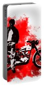 James Dean And Triumph Portable Battery Charger