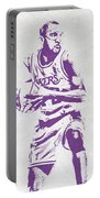 James Worthy Los Angeles Lakers Pixel Art Portable Battery Charger