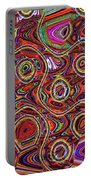Janca Abstract Panel #097e10 Portable Battery Charger