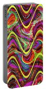 Janca Abstract Wave Panel #5at Portable Battery Charger