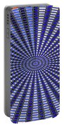 Janca Blue Oval Abstract 9646w11 Portable Battery Charger