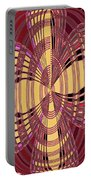 Janca Red And Yellow Abstract  Portable Battery Charger