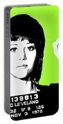 Jane Fonda Mug Shot - Lime Portable Battery Charger