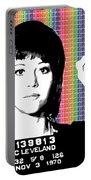 Jane Fonda Mug Shot - Rainbow Portable Battery Charger