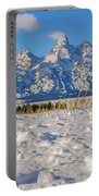 January At The Tetons Portable Battery Charger