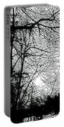 January Beauty 2 Black And White  Portable Battery Charger