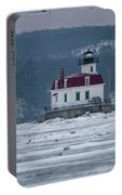 January Morning At Esopus Light Portable Battery Charger
