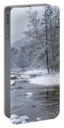 January Snow On The River Portable Battery Charger