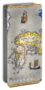 Japan: Map, 1606 Portable Battery Charger