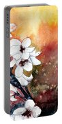 Japanese Cherry Blossom Abstract Flowers Portable Battery Charger